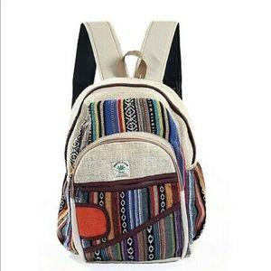 Hemp Backpack Bohemian Style